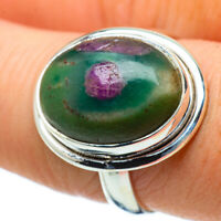 Ruby Fuchsite 925 Sterling Silver Ring Size 8 Ana Co Jewelry R33907F