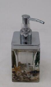 Shell Fauna Starfish Nautical Sea Seaside Soap Dispenser 16cm Tall x 6cm Square
