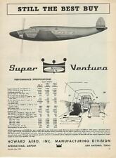 1958 Howard Aero Airplane Ad/ Super Ventura/San Antonio
