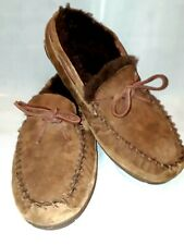 Bean Wicked Good Moccasins Brown Shearling Leather. Indulge. 264593 Mens 10 W