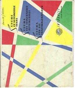 MK-039 USSR Moscow Intourist Travel Brochure Fold Map Circa 1960s Vintage Illust