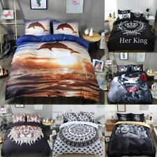 Duvet Cover with Pillow Case Quilt Cover Bedding Set Single Double King A