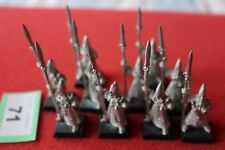 Games Workshop Warhammer High Elf White Spearmen x10 Metal Spear Men Regiment GW
