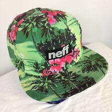 Neff Snapback Floral Hawaiian surf beach neon palm flower beach skate Hat Cap