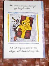 "Blue Mountain Arts Humor Greeting Card ""Your Birthday Present"" B2GO SALE"