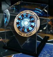 Marvel Iron Man Arc Ark Heart Pioneer Reactor Lights Figures Model Kits Decor