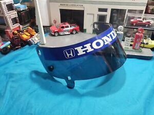SIGNED Race-Used Visor Indycar Indy 500 Winner Gil de Ferran Team HONDA NICE