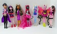 "Lot of 7 Monster High Dolls Mattel Clothes Accessories 10"" Height"