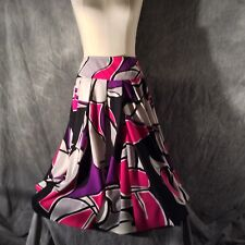 Beautiful Bold Tulip Print, Kenneth Cole Reaction size 10 Flair Skirt