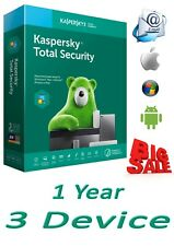 KASPERSKY TOTAL SECURITY 2020 3 PC 1 Year free shipping worldwide GLOBAL KEY