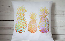 """Tropical pineapples - 16"""" cushion cover tropical shabby vintage chic"""