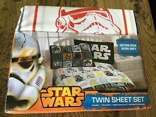 Disney STAR WARS Single Bed Set USA Twin Flat Sheet Fitted Sheet Pillowcase NEW