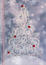 Sparkling Christmas Tree - Lpg Box of 12 Handcrafted Embellished Christmas Cards