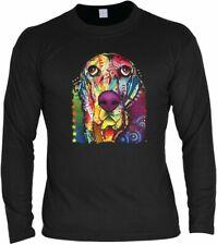 Neon Langarm-Shirt - Super Basset - Motivshirt Geschenk Aufdruck Hund Motiv