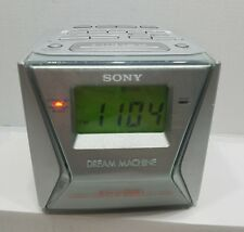 Sony Dream Machine Model Icf-C153V 4 Band Am/Fm Alarm Clock Radio - Works Great