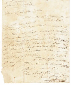 PRINCESS CHARLOTTE 1816 AUTOGRAPH LETTER re: her wedding to PRINCE LEOPOLD