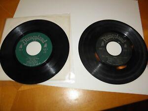 Disneyland Records DBR-49 Toby Tyler VG & DBR-41 Wringle Wrangle GD No Sleeves