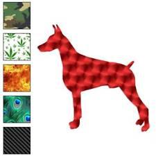 Doberman Dog Decal Sticker Choose Pattern + Size #1945