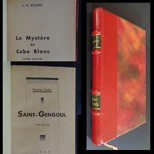 Saint Gengoul & Le Mystère du Cube Blanc - Frédéric Dard - EO 1945 demi-reliure