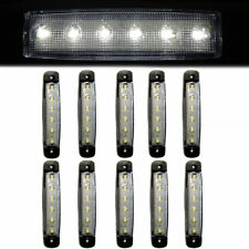 10x 24V Side Rear Front Marker Lights Signals 6 LED Waterproof Fits Truck Lorry