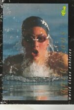 FREE SHIPPING-POOR-Janet Evans 1992 Classic World Class ATHLETES #6