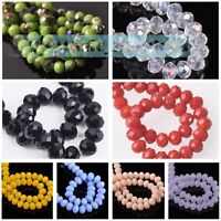 Hot 8mm 30pcs Rondelle Faceted Jewelry Findings Charm Crystal Glass Loose Beads