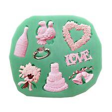 Rose Silicone Fondant Flower Mould Valentine's Wedding Cake Decoration
