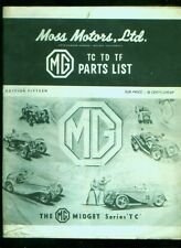 C. 1971 Moss Motors MG parts List catalog #15