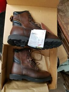 RED WING Shoes Model 964 -1 Brown USA Made Leather Work Boots 8 EE NIB