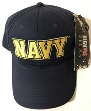 f0afbc7b37e High Vis Design NAVY Military Baseball Cap Navy Blue Adjustable 1 Size Fits  All