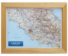 LAZIO CARTA IN RILIEVO [21x30 CM] [CON CORNICE] [CARTINA/MAPPA/POSTER] GLOBAL