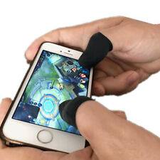 10Pcs Touch Screen Finger Sleeve Cover Gaming Controller Finger Sleeves Black