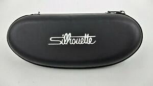 Silhouette Eyeglasses Case Soft Shell Pouch Zip Closure Travel Carrier Black