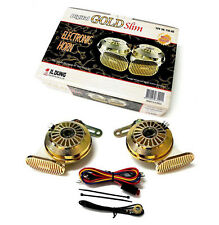 Il Dung 12V Digital Gold Slim Electronic Car Horn With 110dB Sound Made in Korea