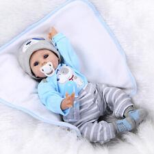 55cm reborn Baby Puppe Lebensecht Handgefertigt Weich Silikon-Vinyl Junge Heiß D