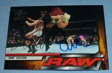 Lita Signed 2002 Fleer Raw vs SmackDown WWE Card #23 Autograph Wrestling Diva