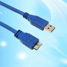 AU_ CW_Blue SuperSpeed USB 3.0 Type A Male to Micro B Male Cable 0.5m 1m 1.8m