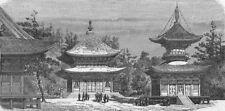 JAPAN. Temple of Hatchiman, Kamakura 1880 old antique vintage print picture
