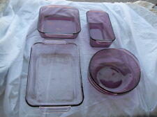**MUST SEE** Set of 4 Cranberry Purple Amethyst Pyrex Cookware #2369