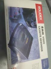 Solidex 8MM Video Cassette Rewinder & AC Adaptor - 727XT - New in Open Box -1994