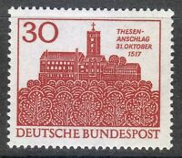 Germany 1967 MNH Mi 544 Sc 976 450th anniv.of the Reformation.Wartburg castle **