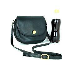 Auth LONGCHAMP Paris Shoulder Cross-Body Black Leather Bag Shoulder Bag Purse