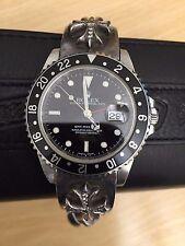 Chrome Hearts Diamond Rolex Bracelet with Rolex GMT Watch