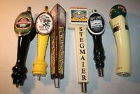 Vintage collection of various beer tap handles, lot of 6, Stegmaier, Rude Elf