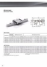 Carriles - Recirculación Guía Rodamiento de Bolas HRC20 ARC20 Sólo Carrito Sin