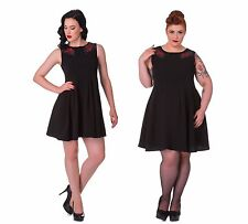 Hell Bunny Lillian Rockabilly Pinup Coctail Dress  Size XS - 4XL