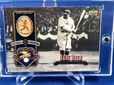 2001 2002 Upper Deck BABE RUTH Game Used Bat Centennial SP
