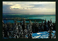 CANADA VINTAGE POSTCARD-VANCOUVER-WINTER-NORTH SHORE MOUNTAINS ..