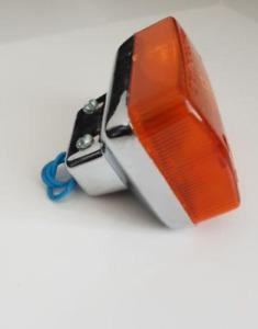 `2 front indicators left & right amber lens chrome stanley for Cub c50 c70 c90