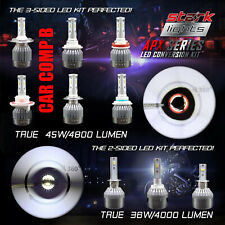 Stark APX 45W 4800LM LED Motorcycle Headlight Kit Bulb or Bulbs 6000K White (D)